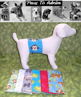 WASHABLE DIAPERS FOR MALE DOGS!