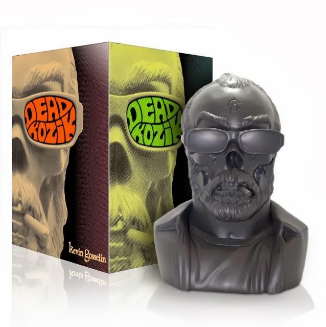 Charcoal Grey Dead Kozik Vinyl Bust by Kevin Gosselin