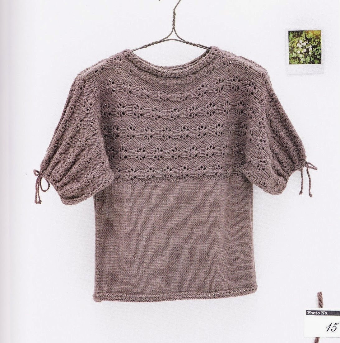Жакет спицами для девочки, поперечное вязание 35