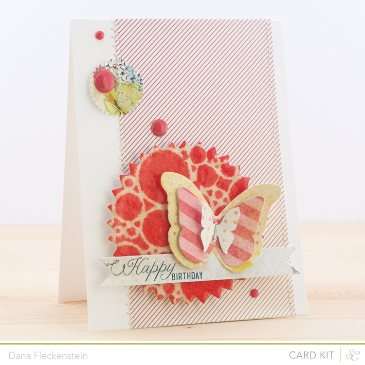 Handmade birthday card by @pixnglue using the Studio Calico Neverland Kit