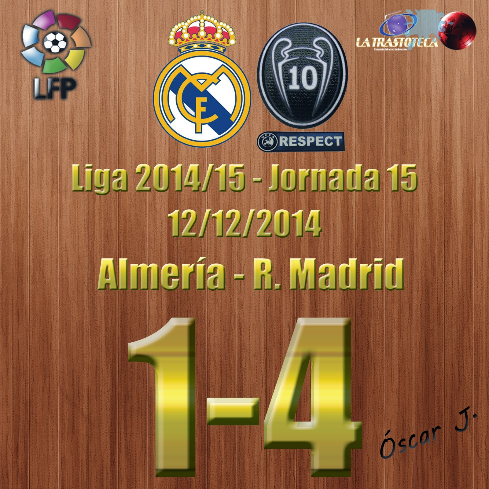 Gareth Bale (0-2) - Almería 1-4 Real Madrid - Liga 2014/15 - Jornada 15 - (12/12/2014)