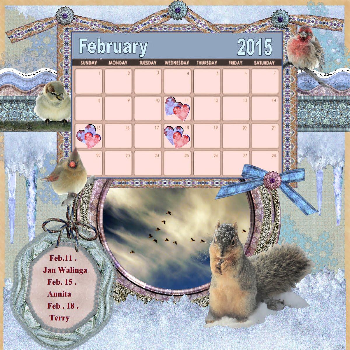Nelleke's Feb 15 calendar