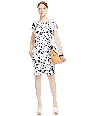Marks and Spencer Smudge Print Shift Dress