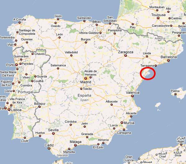 Delta Del Ebro Mapa Ubicación Del Delta Del Ebro