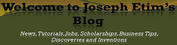 Welcome to Joseph Etim's Blog