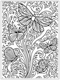 Free Printable Adult Butterfly Coloring Sheet