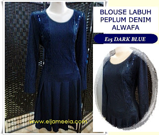 BLOUSE LABUH PEPLUM DENIM ALWAFA