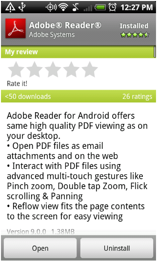 Adobe Reader Android Apk resimi 10