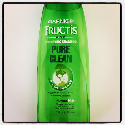 clarifying shampoo, fresh finds, garnier, Garnier fructis, green, hair, hair care, pure clean, shampoo, budget beauty, product review, beauty review