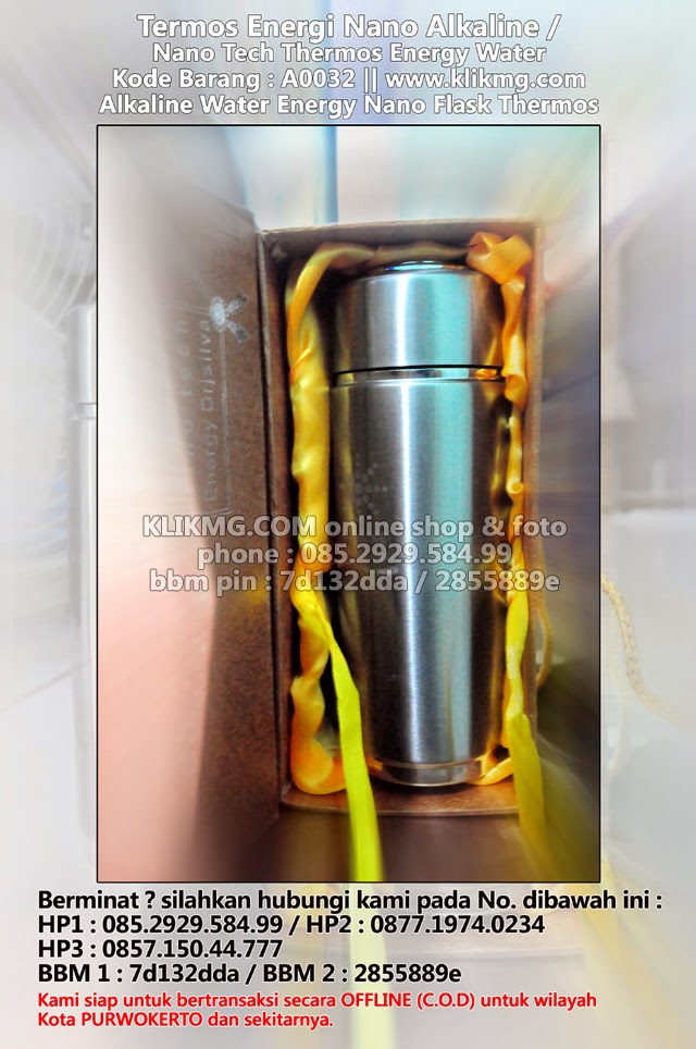 Termos Energi Nano Alkaline / Nano Tech Thermos Energy Water - Kode Barang : A0032 | Alkaline Water Energy Nano Flask Thermos