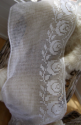 hæklede gardiner opskrift