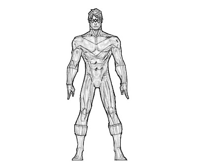 Injustice Gods Among Us Nightwing Coloring Pages