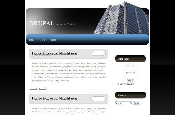 Free Drupal Black White Business Theme Template