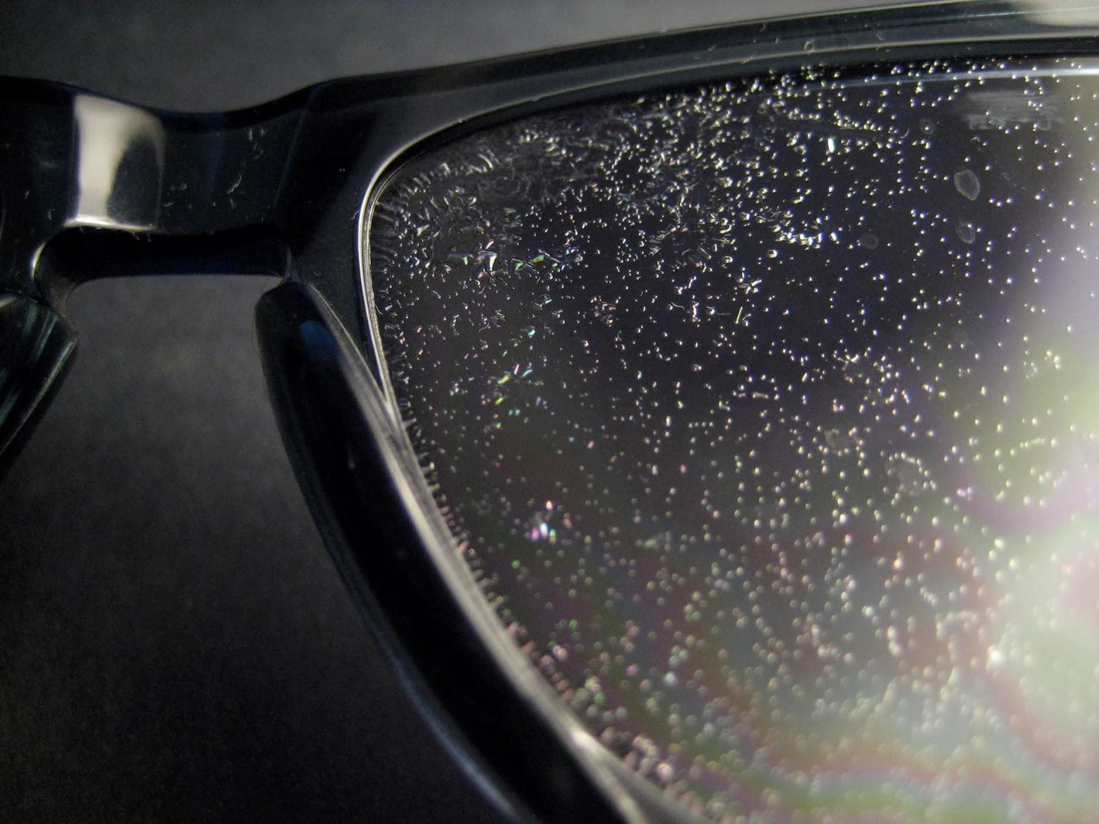lente do ray ban descascando
