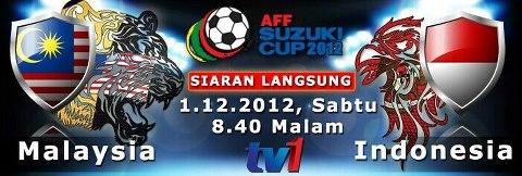 Keputusan Malaysia vs Indonesia 1 Disember 2012 - Piala AFF Suzuki 2012