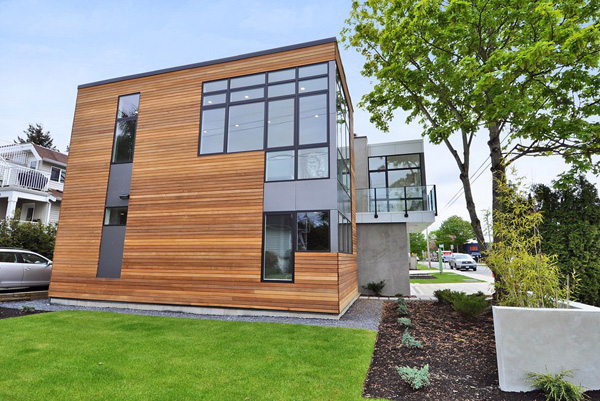 Leed platinum sustainable prefab home modern prefab for Leed cabins