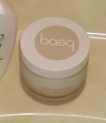 Basq Rebalancing Facial Cleanser on my sink
