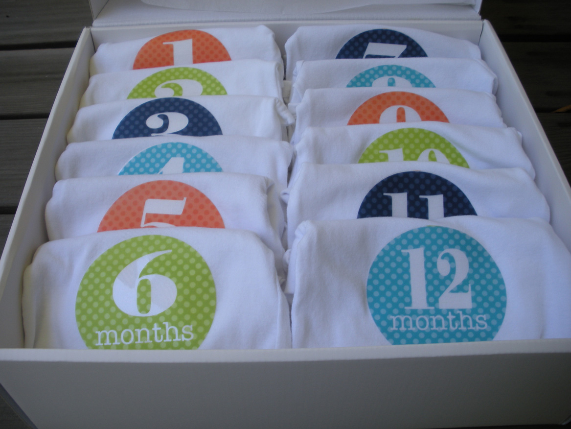 handmade faux treats for baby monthly onesies baby shower gift idea