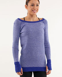 lululemon chai time pullover in pigment blue