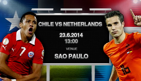 Netherlands vs. Chile live 2014 FIFA WORLD CUP