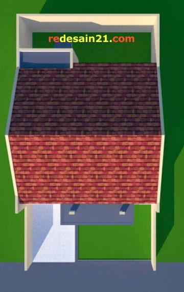 Desain Rumah Minimalis Type 60 - Model Atap