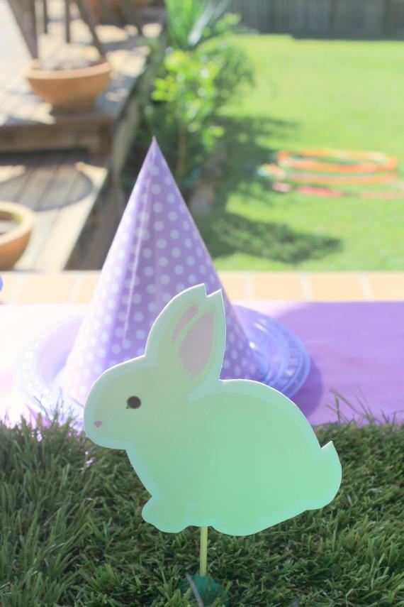 bunny rabbit, printable, diy, fairy party, fairy decorations, woodland, printable, grass table, polka dots