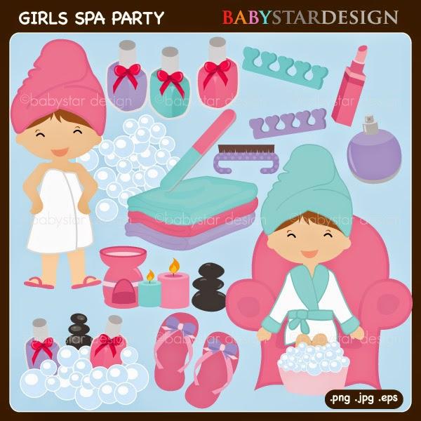 Babystar Design – Little Girl Spa Party Invitations