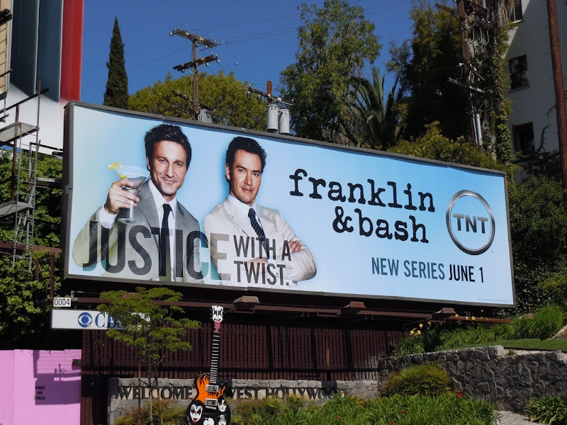 Franklin and Bash TV billboard