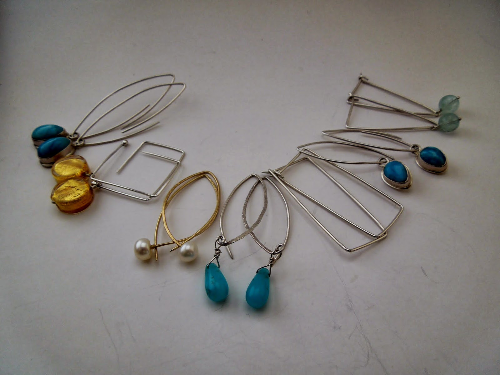 Hanna Peleg Jewelry: Wire hoops & Wire earrings