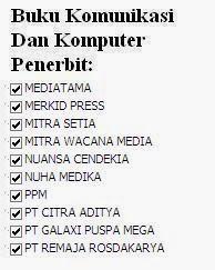 Buku Komunikasi dan Komputer Penerbit Mediatama, Merkid Press, Mitra, Nuansa Online Murah
