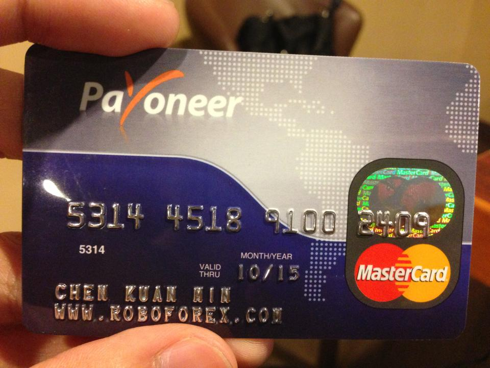 Payoneer debit card forex