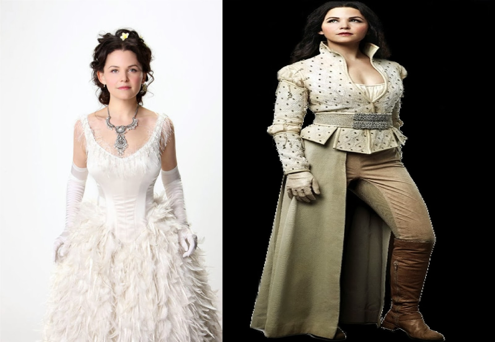 Morbid march hare snow white on screen for Snow white wedding dress once upon a time