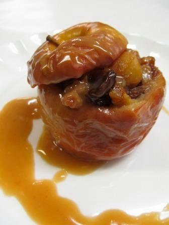 Manzanas Al Horno Con Frutos Secos Al Ron