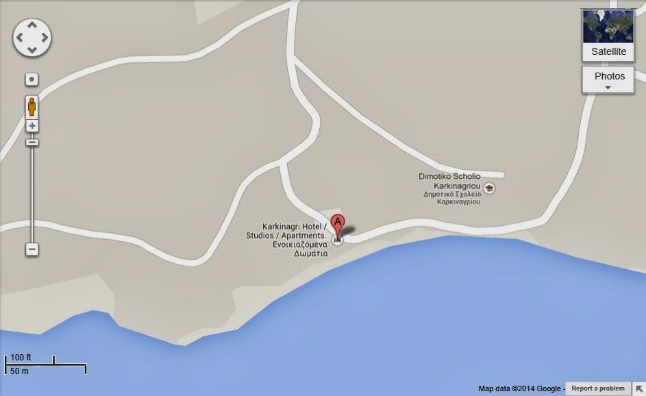 Google Maps- Ικαρια Καρκιναγρι