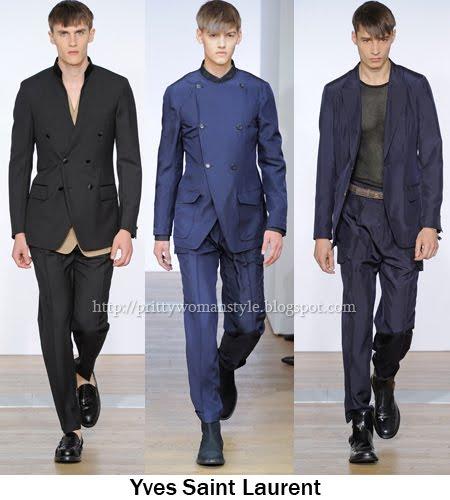 Yves Saint Laurent мъжки костюми 2012