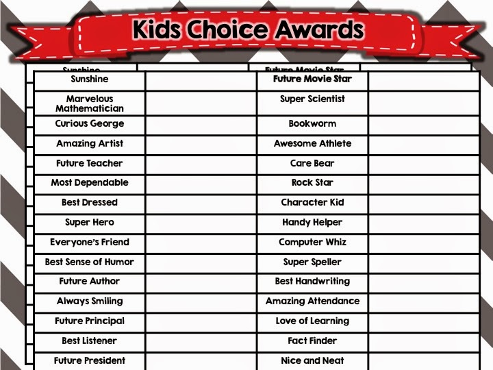 absolutely LOVE ending the year with these awards. It allows your kids ...