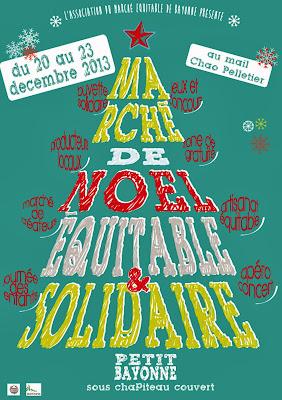 Marché de Noël Equitable et Solidaire 2013 à Bayonne