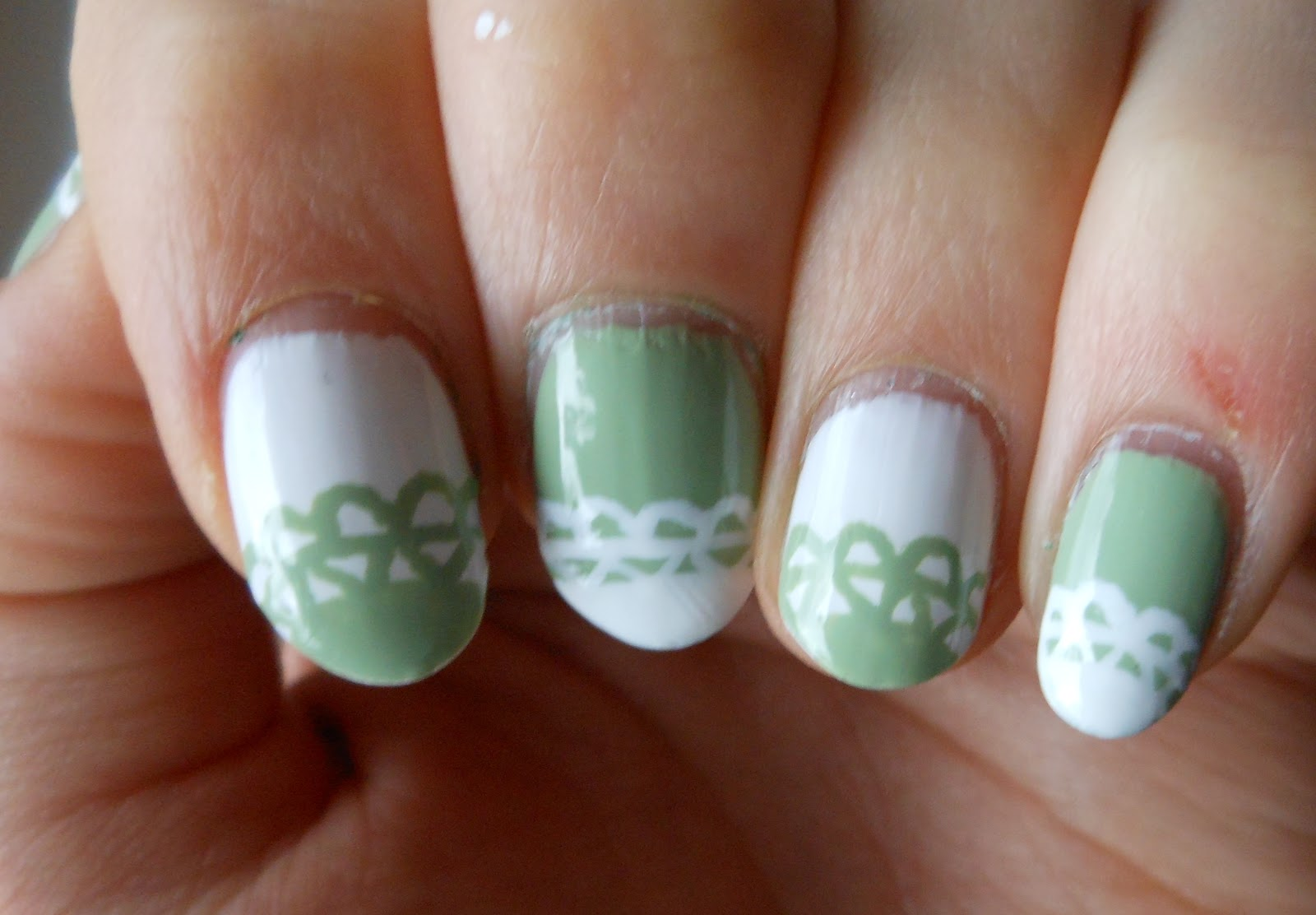 Holy Grail Nails How To Semi Festive Lace Nail Art