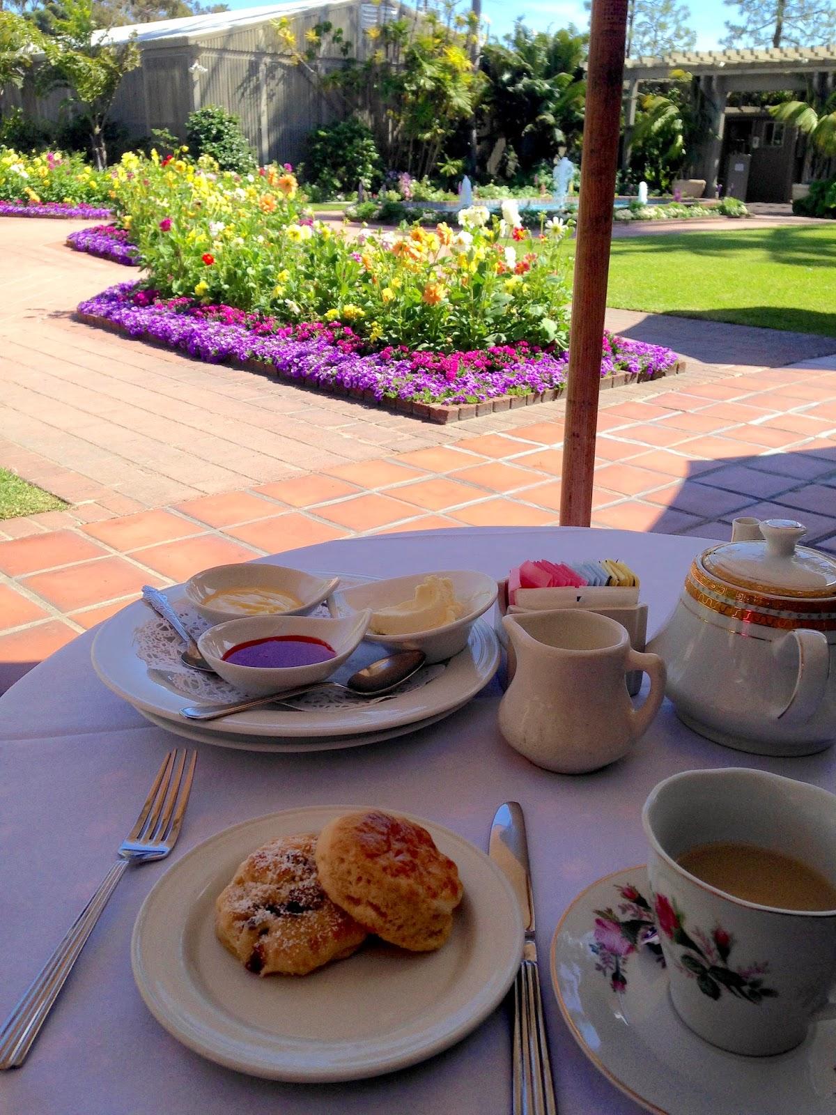 The joy of tea a coastal afternoon tea oasis for Cafe jardin newport beach