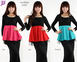 NEW ITEM: LYCRA + LACE PEPLUM