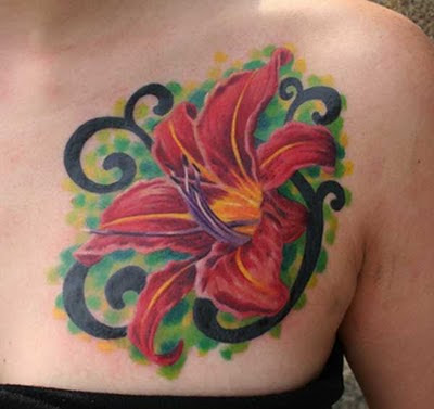 Lily Flower Tattoos Design