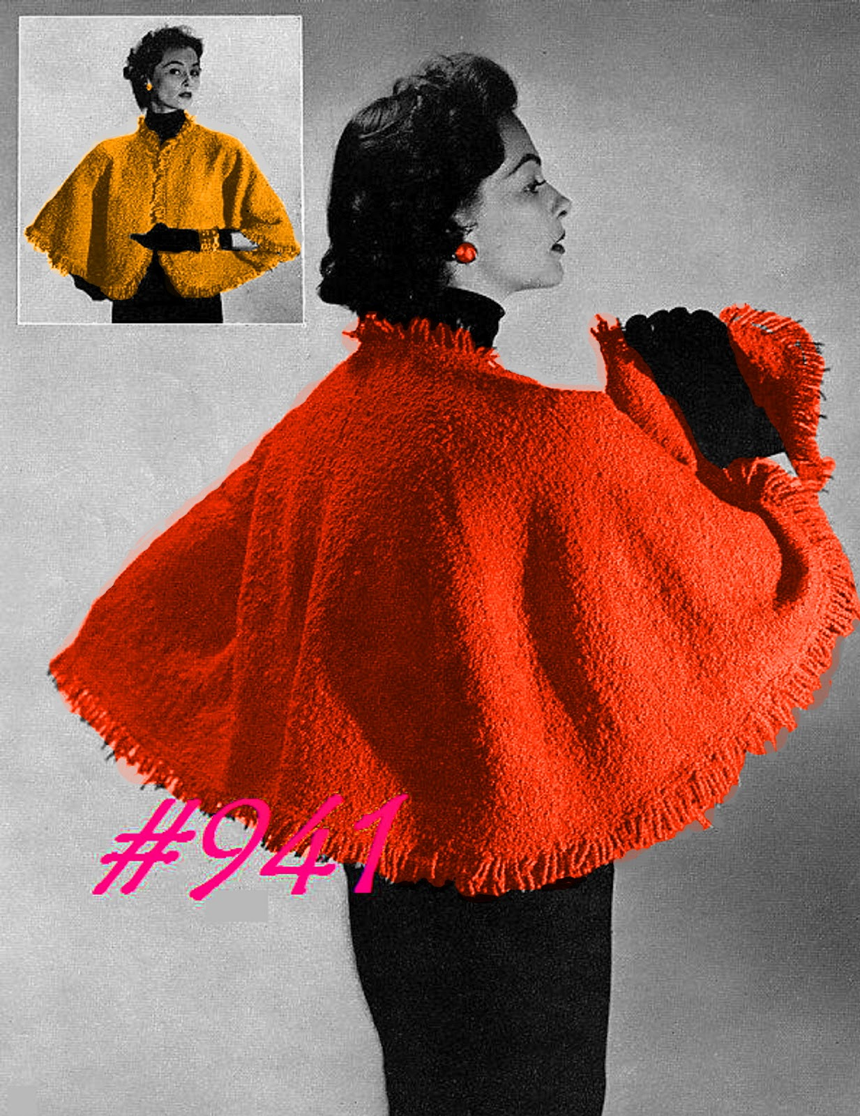 Knitting Patterns For Capes : Miss Julias Patterns: Cozy Capes to Knit - Crochet & Free Patterns