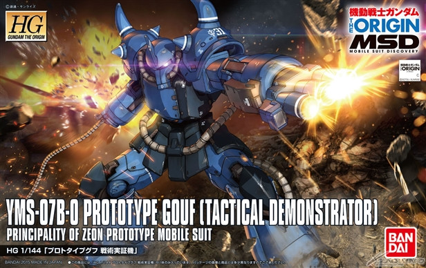 HG Prototype Gouf Box Art
