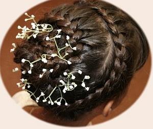 Peinados Niña de las Flores, Trenzas