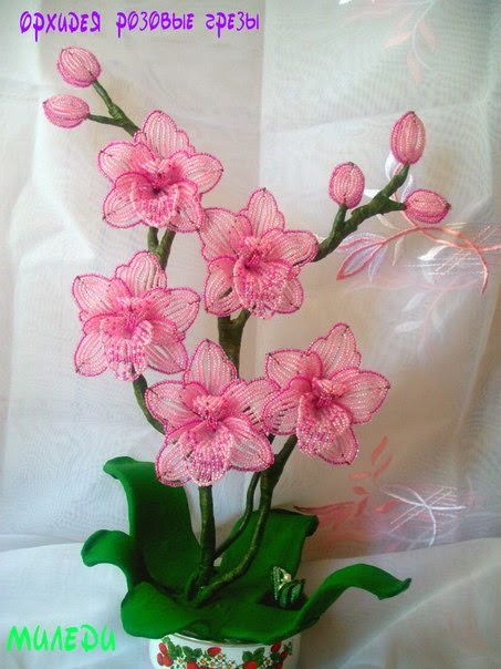 Мастер класс цветок орхидеи из бисера