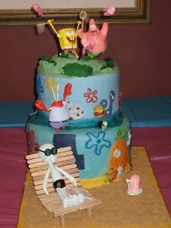 Funny Spongebob Squarepants Birthday Cakes