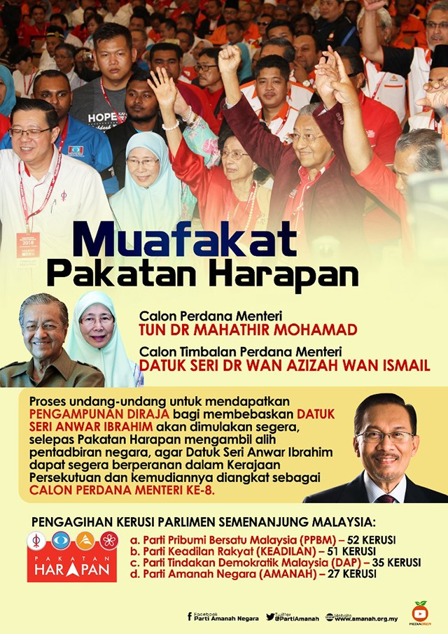 CONGRATS PAKATAN AGREED MAHTHIR AS PM N WAN AZIZAH AS DPM IF PAKATAN WINS IN D GE 14 BY HIS GRACE!