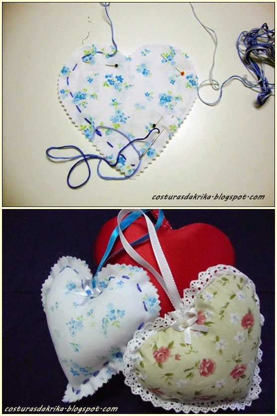 coração em tecido