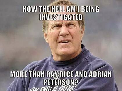 How the hell am I being investigated more than ray rice and adrian peterson?