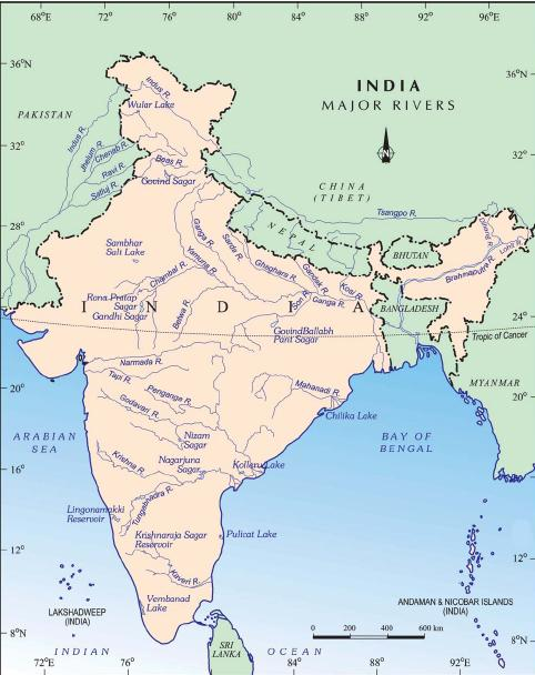 MPSC World Indian River System - Major river systems of the world
